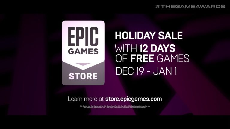 12 free games on Epic Games Store from Dec 19th